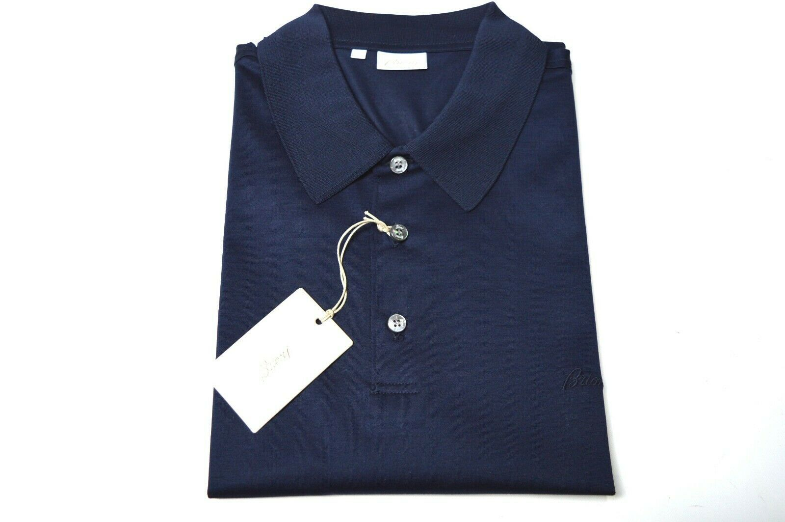 NEW BRIONI Polo Short Sleeve baumwolle  Größe XL Us Eu 54 Made In  (Sp51)