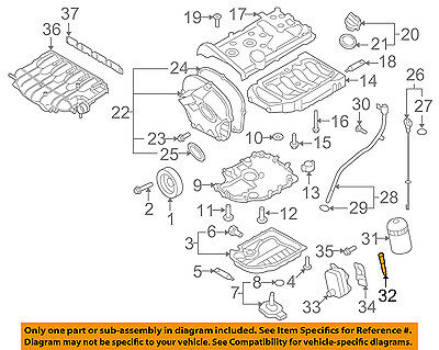 details about vw volkswagen oem 09-16 eos engine parts-adapter 06j115679e