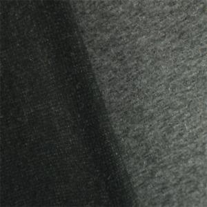 Black-Grey-Wool-Blend-Double-Cloth-Jacketing-Fabric-By-The-Yard