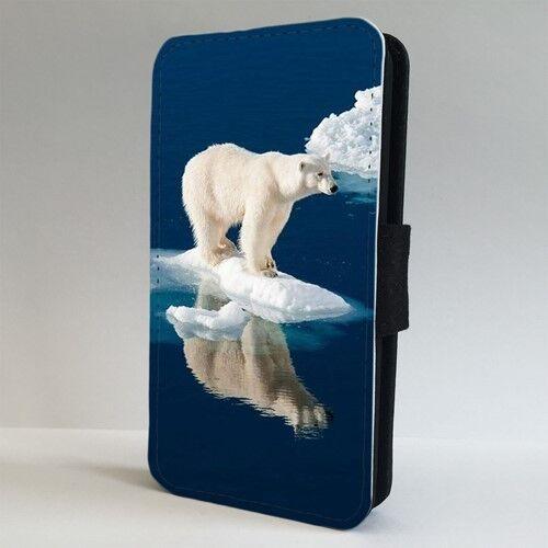 Oso Polar derretir el hielo Arctic Flip Teléfono Estuche Cubierta para IPHONE SAMSUNG