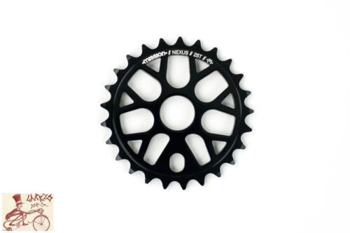 MISSION NEXUS BLACK 25T BMX BICYCLE SPROCKET