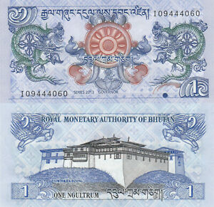Bhutan-1-Ngultrum-2013-Dragon-Palace-p27b-UNC