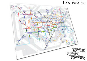Details about THE UNDERGROUND London MAP tube lines Stations Poster Print  X1001