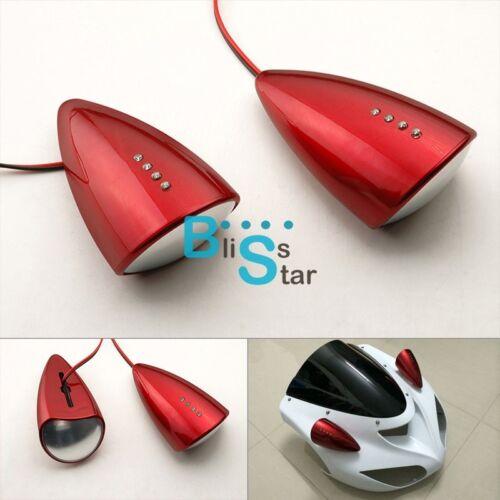 Bloody Red Custom LED Mirrors Turn Signals Fit Honda CBR600 F4 F4i 1999-2007 BS1