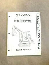 Gehl 272 292 Mini Excavator Parts Manual Form 908540