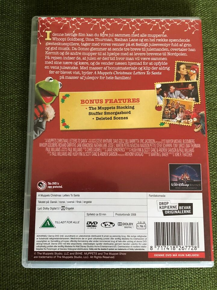 A Muppets Christmas. - letter to Santa, DVD, familiefilm