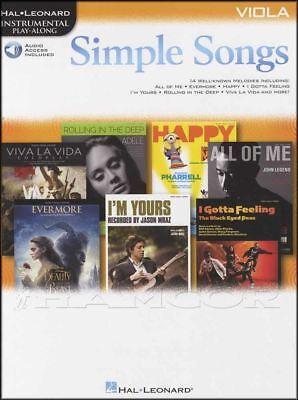 2019 Nieuwste Ontwerp Simple Songs Viola Instrumental Play-along Sheet Music Book/audio Adele Coldplay Meer Comfort Voor De Mensen In Hun Dagelijks Leven
