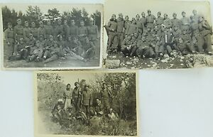 RARE-1950s-YUGOSLAVIA-Montenegrin-REAL-PHOTO-POSTCARDS-NAMES-OF-SOLDIERS