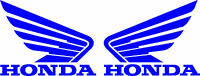 Honda Wing Goldwing Die Cut Decal - Set Of 2 - Blue
