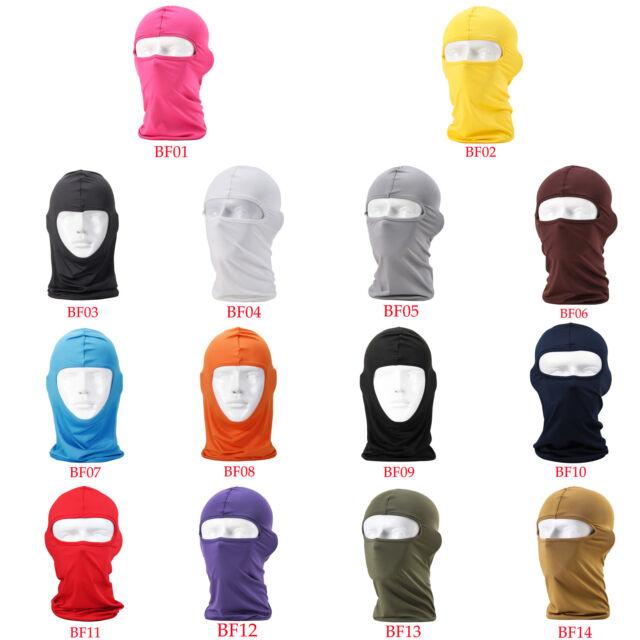 5PCS Ultra Thin Sport Balaclava Winter Full Face Mask Cap Motorcycle Cycling Ski