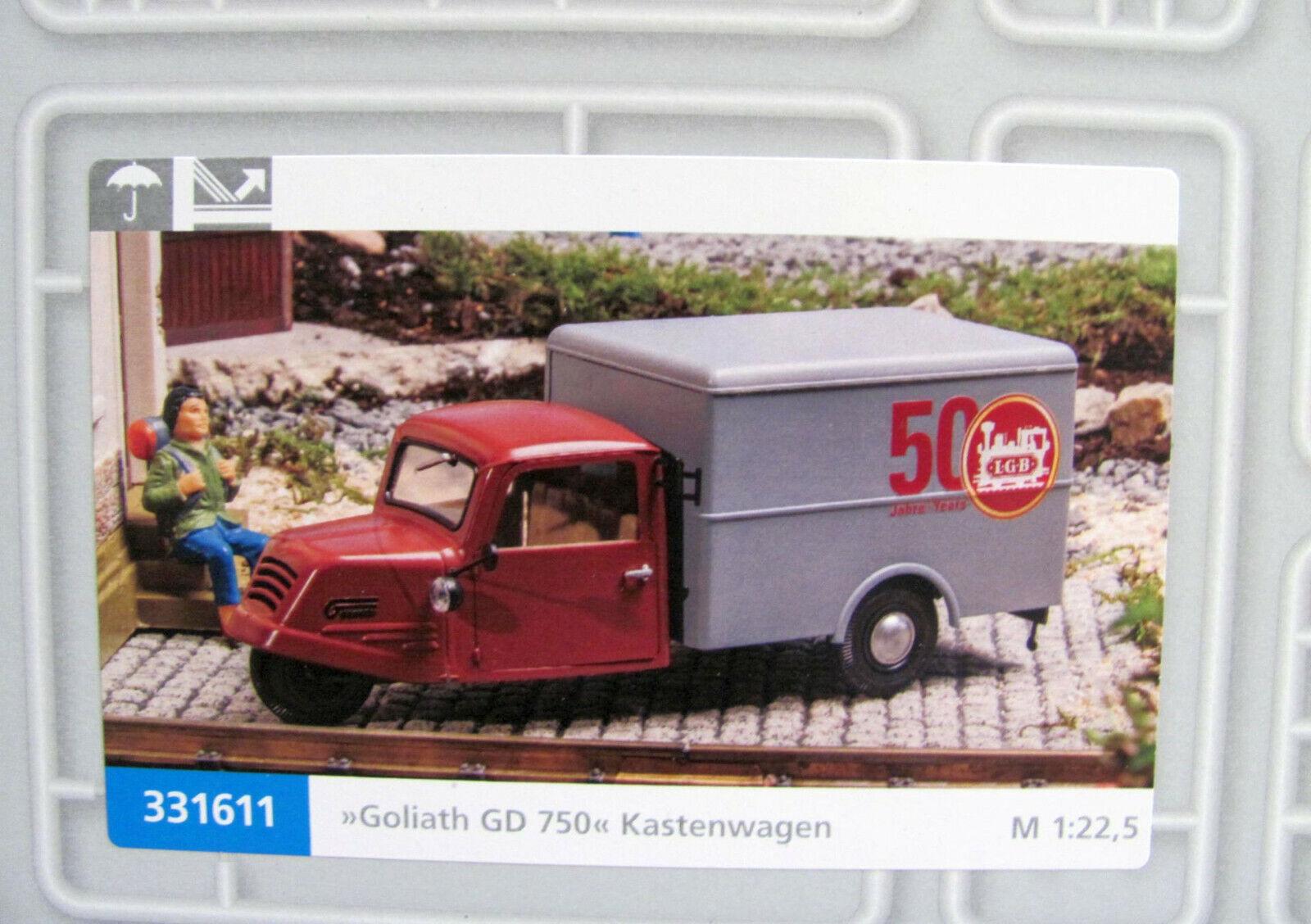prima i clienti Pola G 331611 Goliath DG 750 CASSETTA autorello autorello autorello  50 anni LGB  per Traccia G NUOVO con OVP  spedizione veloce in tutto il mondo