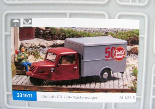 """Pola G 331611 Goliath GD 750 Kastenwagen /""""50 Jahre LGB/"""" für Spur G NEU mit OVP"""