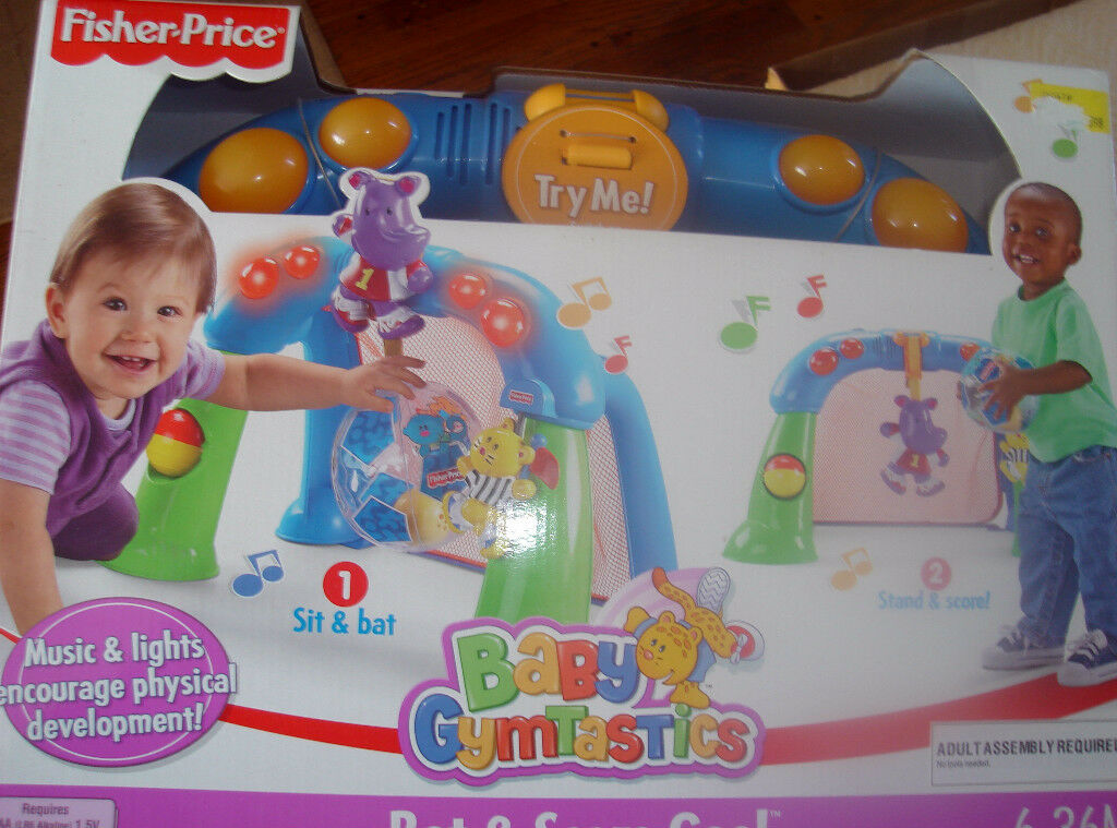 New Fisher Price Baby Gymnastics Bat and Score