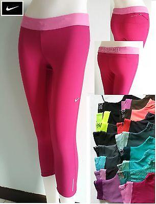 NEW NIKE Dri Fit Just Do It Tight Crops Capri Running Yoga Pants Women S M L XL