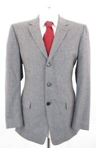 RED HUGO BOSS Anzug Albo Hago Gr.50 grau Nadelstreifen Einreiher 3-Knopf -C62