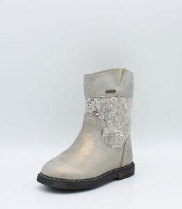 officiel chaussures élégantes comparer les prix Détails sur Geox Bottines de fille en cuir laminé gray et à paillettes  Scape B44D6F 23