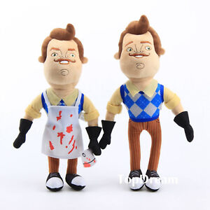 Hello-Neighbor-16inch-Butcher-Neighbor-Cleaver-Plush-Figure-Toy-Stuffed-Doll-NWT