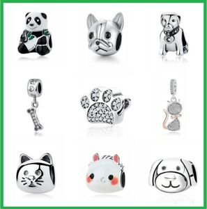 Authentic-PANDORA-Love-Pets-Dog-Cat-Paw-ORIGINAL-CHARM-925-Sterling-Silver-Gifts