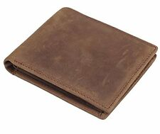 Mens Genuine Leather Bifold Wallet with 2 ID Window and RFID Blocking 02 Coffee