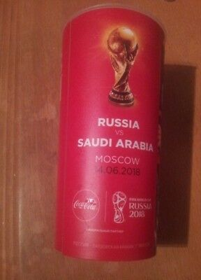 Becher Cup #1 Russland Russia Saudi Arabia Arabien Coca Cola WM World Cup 2018