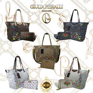 1e9a3c4c53f2a Das Bild wird geladen Damen-Tasche-Frauen-Geldboerse-2er-Set-Giulia-Pieralli -