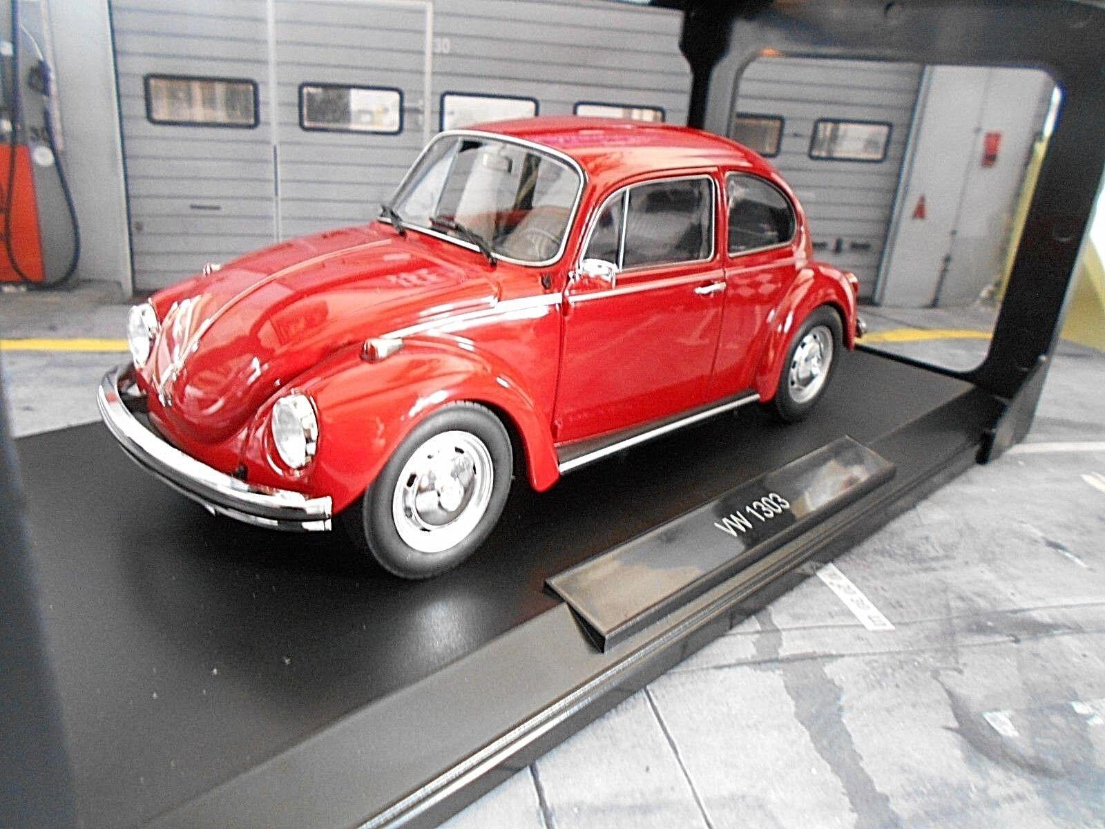 VW VOLKSWAGEN COCCINELLE BEETLE 1303 1972 rouge ROUGE RAR NOREV 188520 1 18