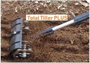 Total Tiller Cordless Drill Powered Auger Bit Flower Garden Cultivator OPEN BOX