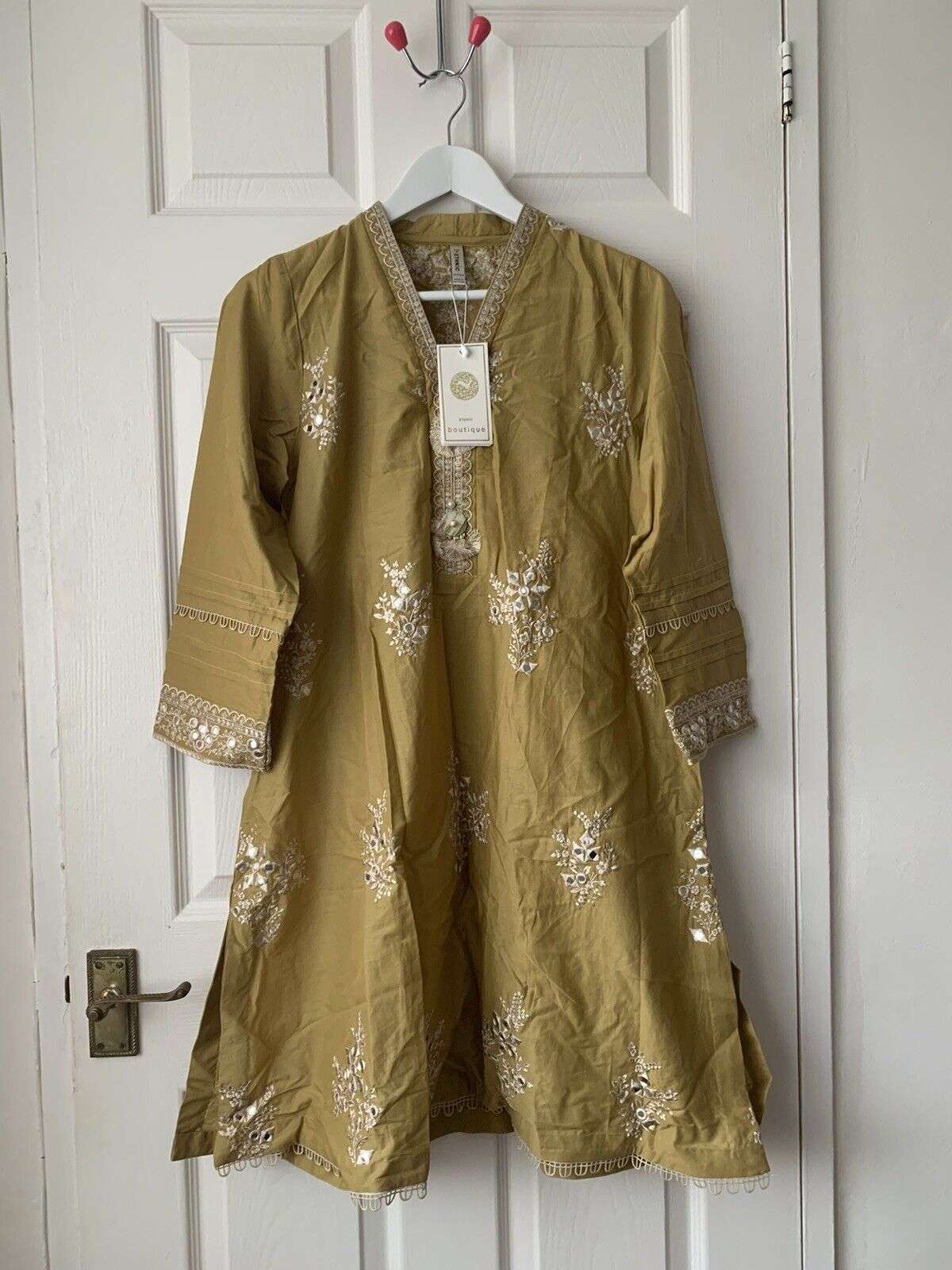 Ethnic By Outfitters EMBROIDERED SUIT/ 3pc: Stitched/ Size: S 100% Original
