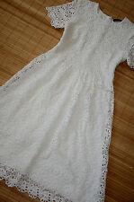 HALLHUBER wunderschönes Kleid Gr. 34 UK 6 neu Häkelspitze Weiß