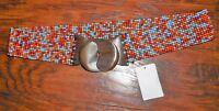 Cato Accessories Woman's Multi-color Beaded Fashion Belt Size S/m