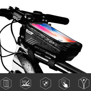 Bicycle-Cycling-Bike-Front-Top-Tube-Frame-Bag-MTB-Waterproof-Phone-Holder-Mount