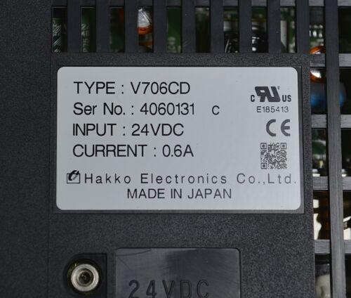 Hakko Electronics V706CD HMI GRAPHIC OPERATION TERMINAL