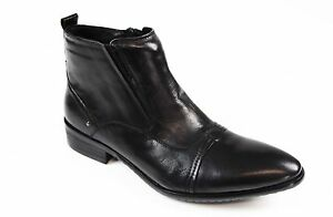 MENS-AUSTRALIAN-DESIGN-BLACK-FORMAL-CASUAL-LEATHER-ZIP-SHOES-FORMAL-DRESS-BOOTS
