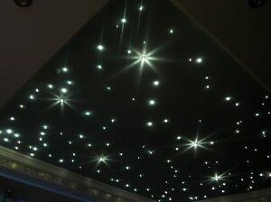Sternenhimmel Mit 100 Lichtfasern 1mm Led Glasfaser Lampe Lautlos Ebay