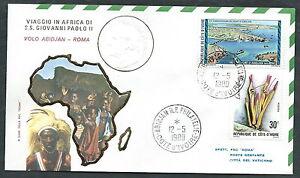 1980 Vaticano Viaggi Del Papa Dispaccio Aereo Abidjan Roma Timbro Arrivo - Rm1