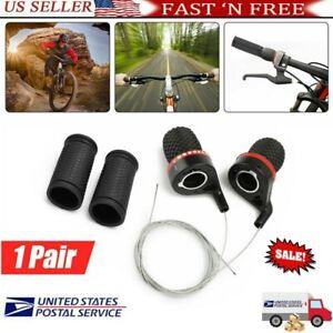 US Shift Levers Mountain Cycle Handlebar Twist Grip Gear Shifter Fr Bicycle Bike