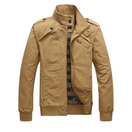 Stand Collar Military Bomber Jackets Mens Hunting Combat Army Coats Flight Tops