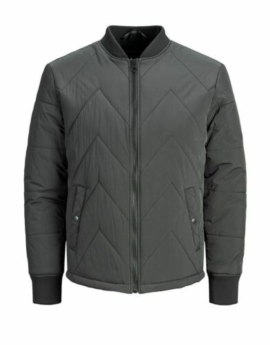 Jack and Jones Marvin Quilted Jacket in Raven