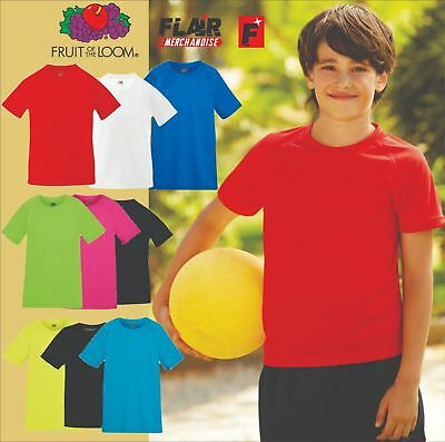 Fruit Of The Loom Children's Performance T-shirt, 9-colour