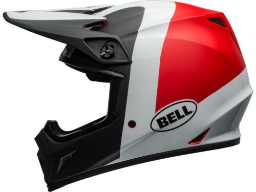 Rouge Blanc Casque Motocross BELL MX-9 MIPS Presence Noir