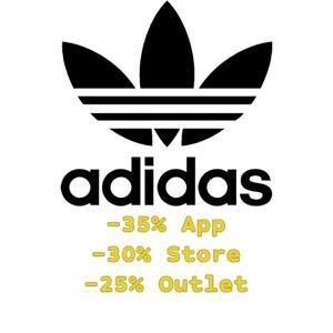 scremare Serie storiche rigonfiamento  Codice Sconto Adidas - 35% da app , 30% da web, 25% Outlet | eBay