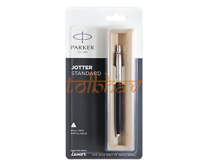 Parker Jotter Standard Chrome Trim Ball Pen Black