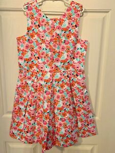 NWT Janie And Jack Floral Cotton Pique Lined Dress Size 10