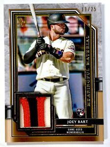 2021 Topps MUSEUM Baseball - JOEY BART #MMR-JBA - GOLD Relic 11/25 - GIANTS - RC