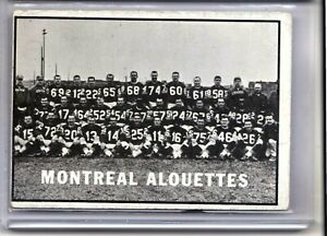 1961-Topps-CFL-73-Montreal-Alouettes-Canadian-Football-RARE-CSV