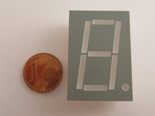 "anodo rosso Gem 2 pezzi 26mm 1,02/"" 7-Segment Display Kingbright sa10-11hwa"