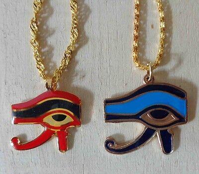EGYPTIAN HORUS FALCON EYE SUN SKY GOD EGYPT NECKLACE PENDANT PHARAOHS EGYPT 102