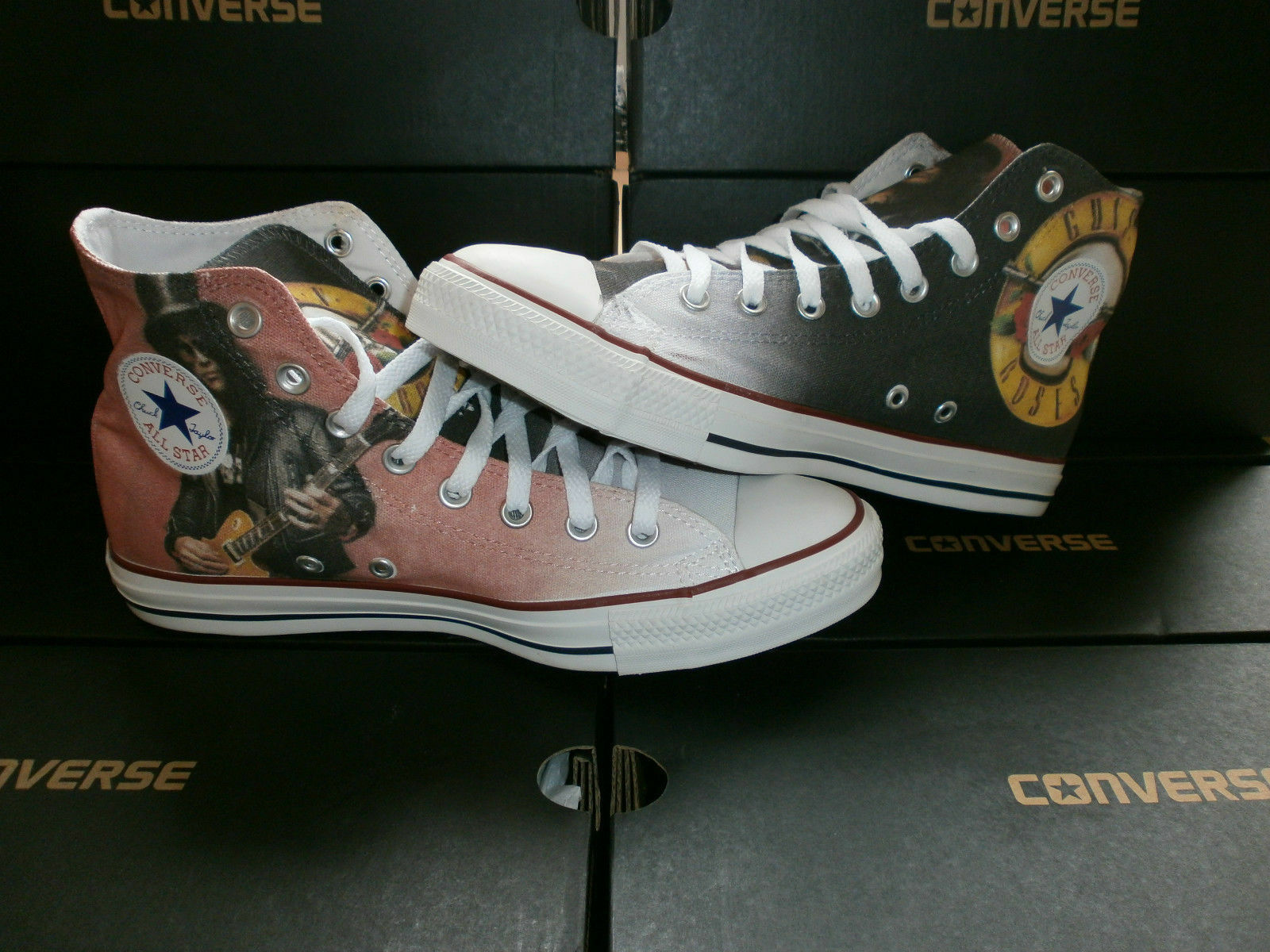 Scarpe sneakers Converse All Star Custom Guns N Roses, artigianali Made in Italy