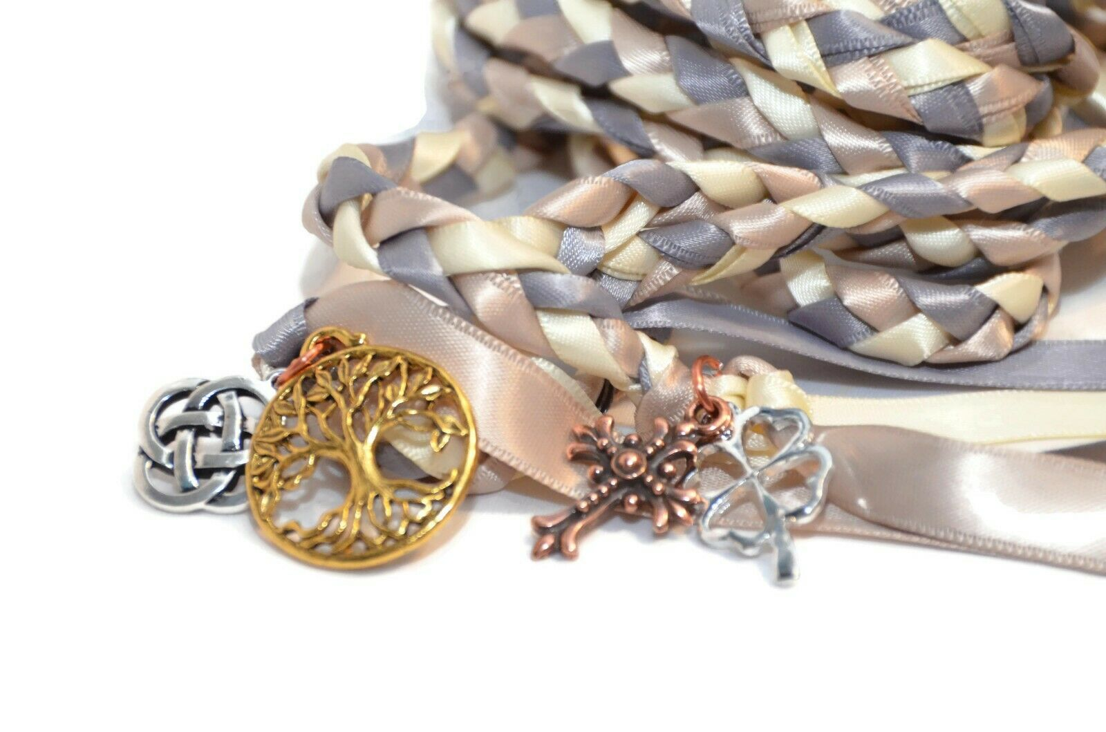 4 Charm Celtic  Wedding Handfasting Cord  DivinityBraid  Wedding  Handfasting