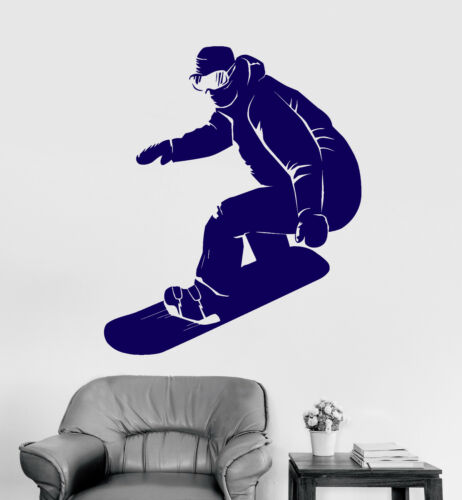 ig4213 Vinyl Wall Decal Snowboarder Extreme Sport Snowboarding Stickers